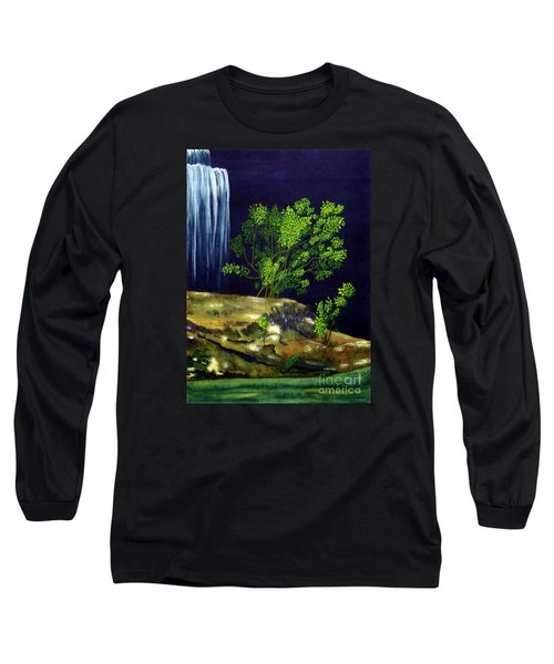 Long Sleeve T-Shirt featuring the painting Dark Waters by Patricia Griffin Brett