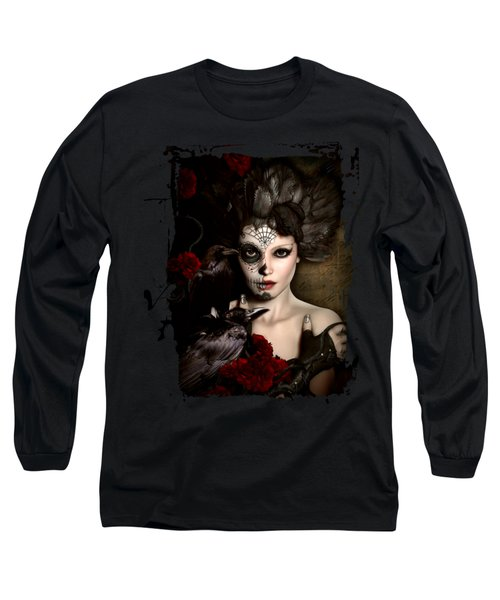 Darkside Sugar Doll Long Sleeve T-Shirt by Shanina Conway