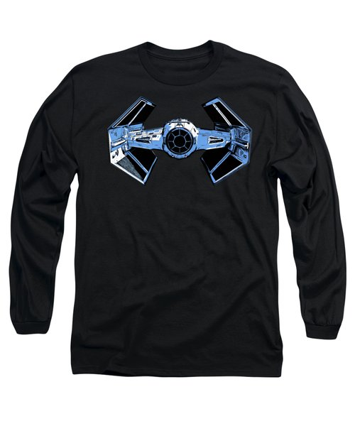 Darth Vaders Tie Figher Advanced X1 Tee Long Sleeve T-Shirt by Edward Fielding