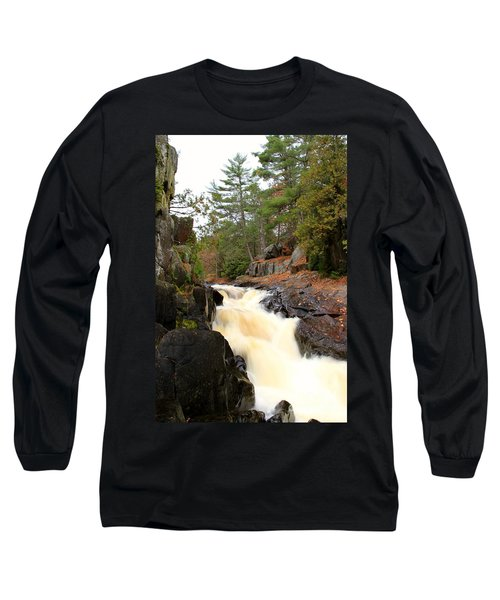 Long Sleeve T-Shirt featuring the photograph Dave's Falls #7277 by Mark J Seefeldt
