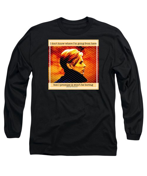 David Bowie Long Sleeve T-Shirt by Laura Michelle Corbin
