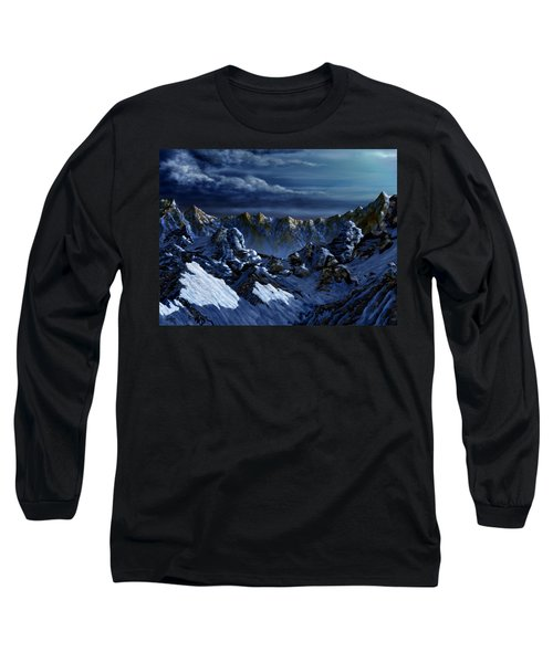 Long Sleeve T-Shirt featuring the digital art Dawn At Eagle's Peak by Curtiss Shaffer