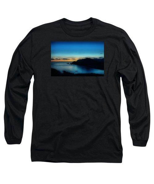 Dawn Blue In Mediterranean Island Of Minorca By Pedro Cardona Long Sleeve T-Shirt by Pedro Cardona
