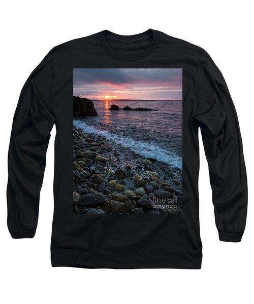 Long Sleeve T-Shirt featuring the photograph Dawn, Camden, Maine  -18868-18869 by John Bald