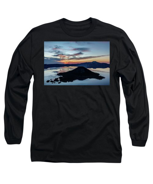 Long Sleeve T-Shirt featuring the photograph Dawn Inside The Crater by Pierre Leclerc Photography
