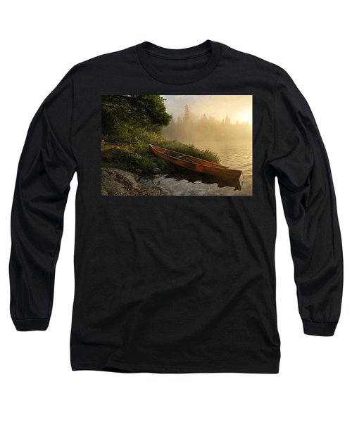 Dawn On Boot Lake Long Sleeve T-Shirt by Larry Ricker