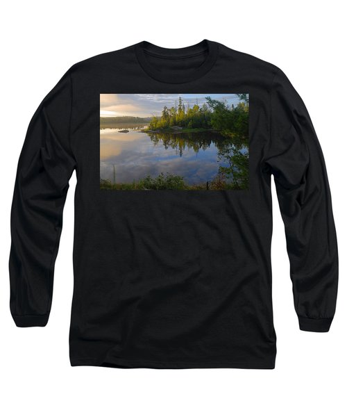 Dawn On The Basswood River Long Sleeve T-Shirt