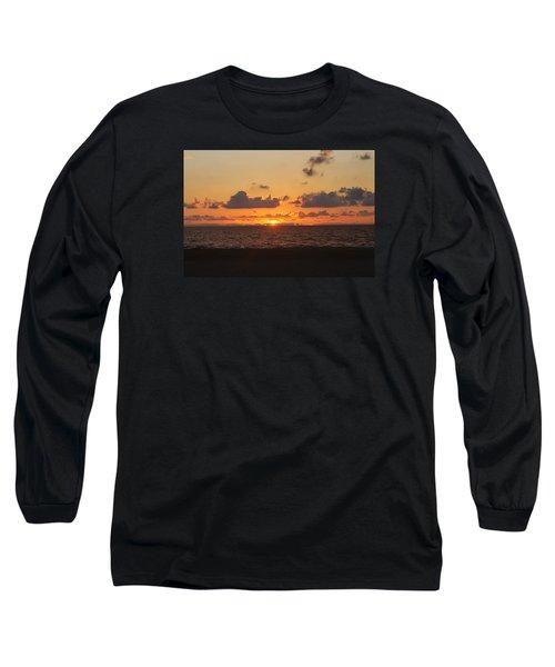 Dawn's Cloud Layers Long Sleeve T-Shirt by Robert Banach
