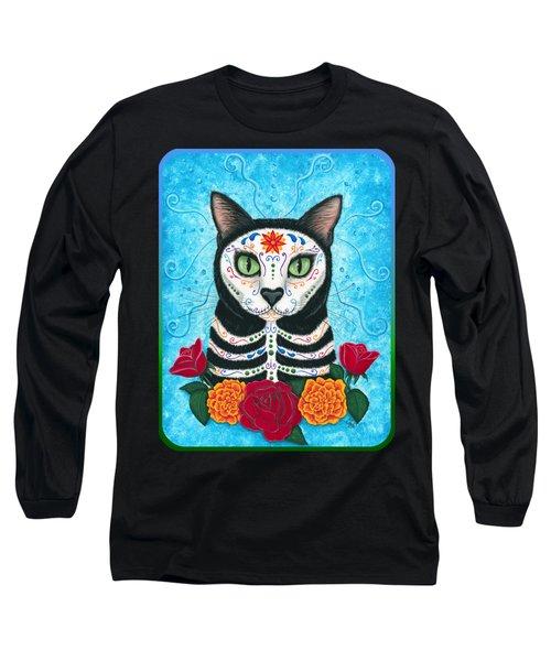 Day Of The Dead Cat - Sugar Skull Cat Long Sleeve T-Shirt