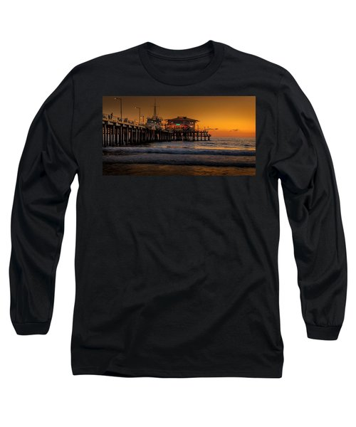 Daylight Turns Golden On The Pier Long Sleeve T-Shirt