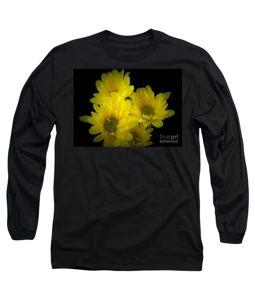 Dazzling Yellow Long Sleeve T-Shirt by Ray Shrewsberry