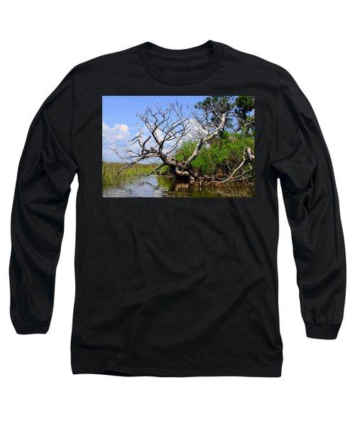 Dead Cedar Tree In Waccasassa Preserve Long Sleeve T-Shirt