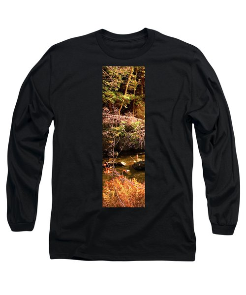 1 Of 6 Dead River Falls  Marquette Michigan Section Long Sleeve T-Shirt by Michael Bessler