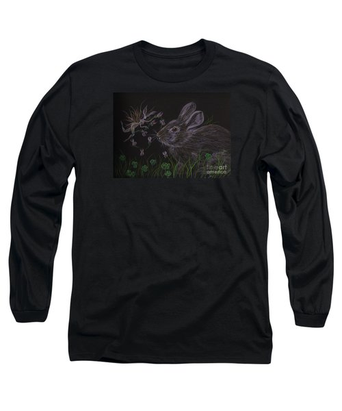 Dearest Bunny Eat The Clover And Let The Garden Be Long Sleeve T-Shirt by Dawn Fairies
