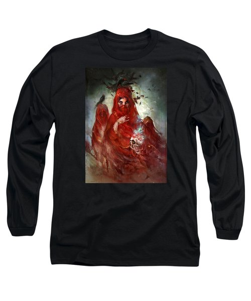 Death Long Sleeve T-Shirt by Te Hu