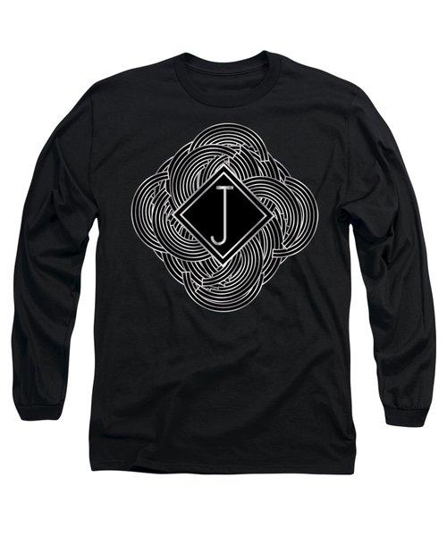Deco Jazz Swing Monogram ...letter J Long Sleeve T-Shirt