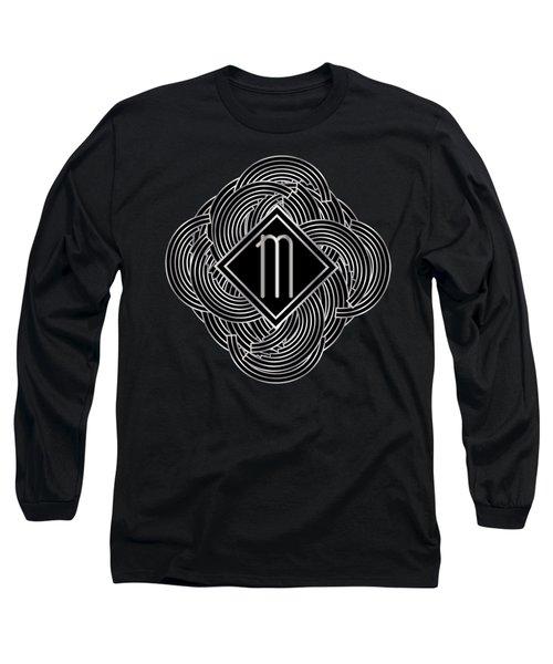Deco Jazz Swing Monogram ...letter M Long Sleeve T-Shirt