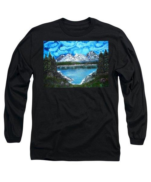 Deep Mountain Lake Long Sleeve T-Shirt