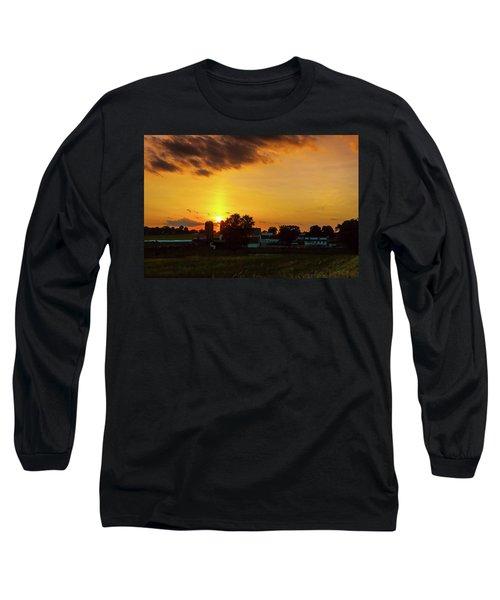 Deep Orange Farm Long Sleeve T-Shirt