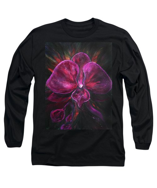 Deep Purple Orchid Long Sleeve T-Shirt