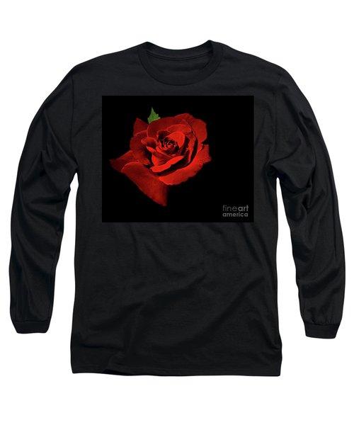 Deep Red Long Sleeve T-Shirt
