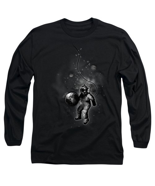 Deep Sea Space Diver Long Sleeve T-Shirt by Nicklas Gustafsson
