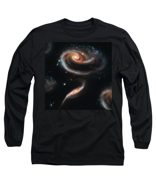 Deep Space Galaxy Long Sleeve T-Shirt by Jennifer Rondinelli Reilly - Fine Art Photography