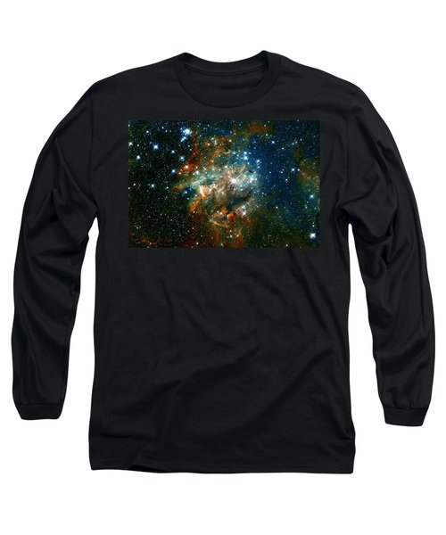 Deep Space Star Cluster Long Sleeve T-Shirt by Jennifer Rondinelli Reilly - Fine Art Photography