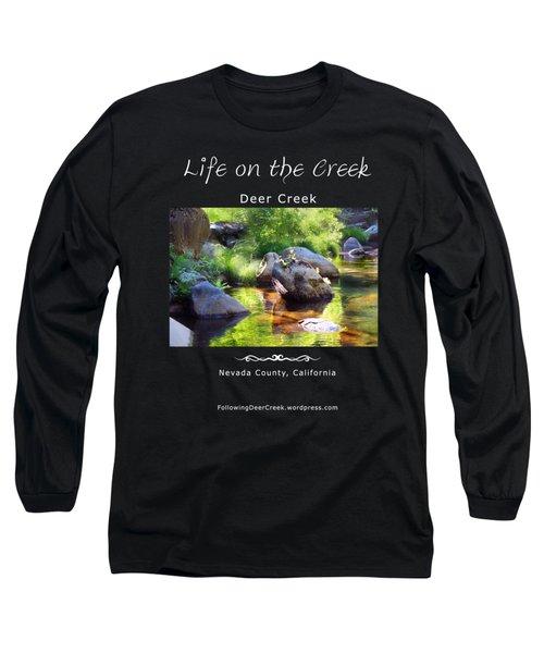 Deer Creek Ferns - White Text Long Sleeve T-Shirt