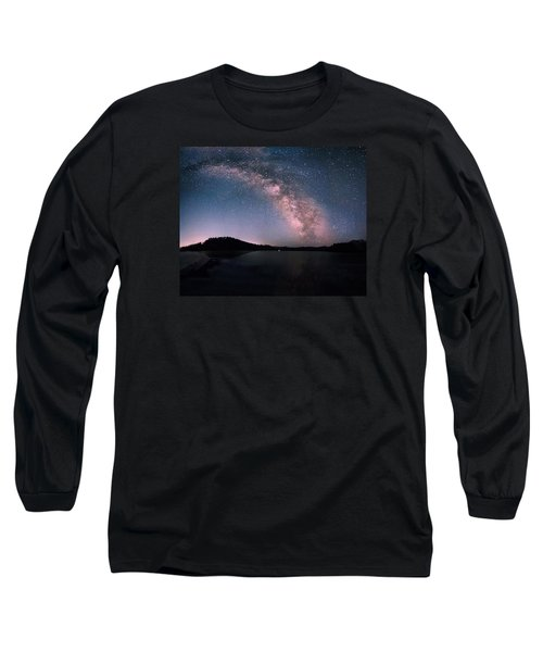 Deerfield Lake Milky Way Long Sleeve T-Shirt