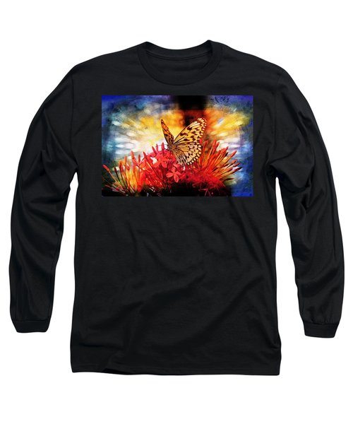 Blue Long Sleeve T-Shirt featuring the photograph Delicate Beauty by Aaron Berg