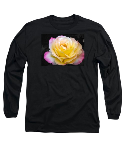 Delightful Blushing Rose  Long Sleeve T-Shirt