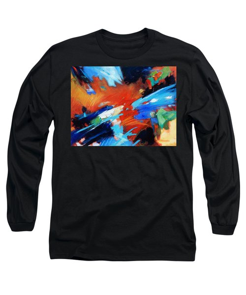 Long Sleeve T-Shirt featuring the painting Demo by Gary Coleman
