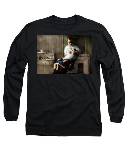 Long Sleeve T-Shirt featuring the photograph Dentist - Good Oral Hygiene 1918  by Mike Savad