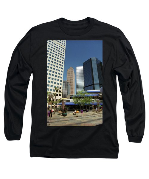 Long Sleeve T-Shirt featuring the photograph Denver Architecture by Frank Romeo