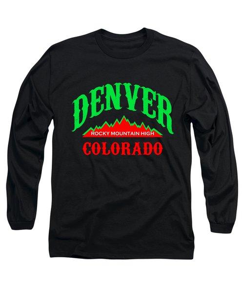 Denver Colorado Rocky Mountain Design Long Sleeve T-Shirt
