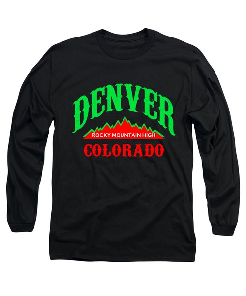 Denver Colorado Rocky Mountain Design Long Sleeve T-Shirt
