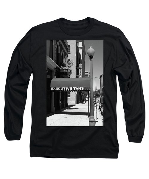 Denver Downtown Storefront Bw Long Sleeve T-Shirt by Frank Romeo