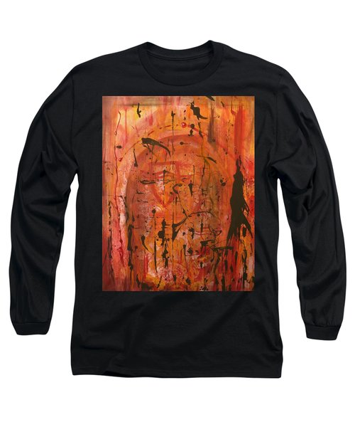 Departing Abstract Long Sleeve T-Shirt