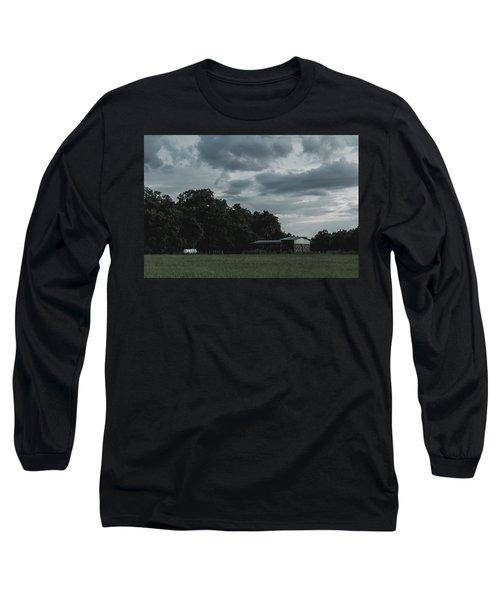 Desaturated Barn Long Sleeve T-Shirt