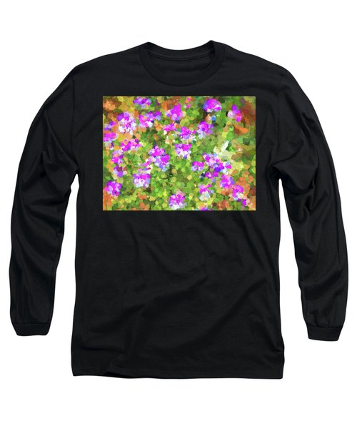 Desert Flowers In Abstract Long Sleeve T-Shirt by Penny Lisowski