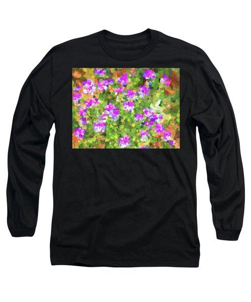 Desert Flowers In Abstract Long Sleeve T-Shirt