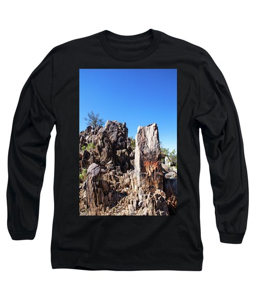 Long Sleeve T-Shirt featuring the photograph Desert Rocks by Ed Cilley