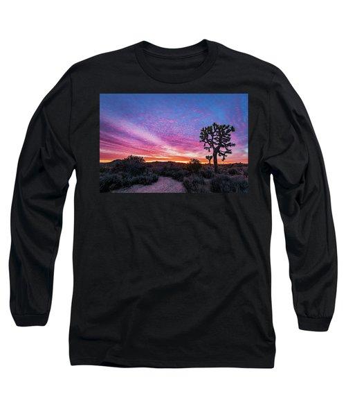Desert Sunrise At Joshua Tree Long Sleeve T-Shirt