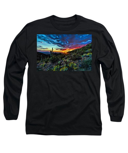 Desert Sunset Hdr 01 Long Sleeve T-Shirt