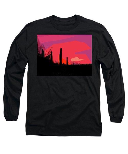 Desert Sunset In Tucson Long Sleeve T-Shirt