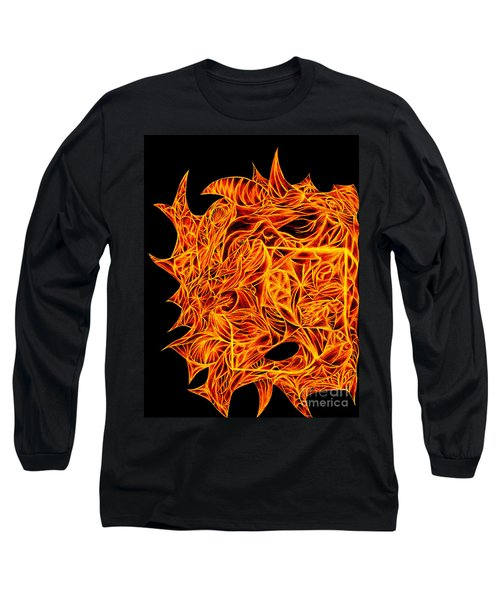 Long Sleeve T-Shirt featuring the drawing Desire Flair by Jamie Lynn