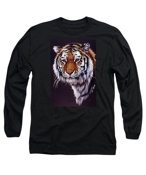 Long Sleeve T-Shirt featuring the drawing Desperado by Barbara Keith