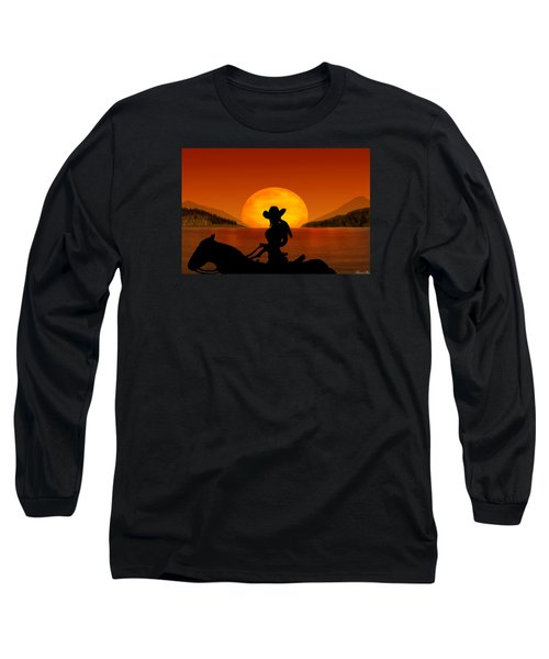 Long Sleeve T-Shirt featuring the digital art Desperado by Bernd Hau