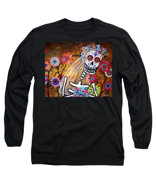 Long Sleeve T-Shirt featuring the painting Desposada by Pristine Cartera Turkus